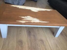 Solid wood coffee table shabby chic
