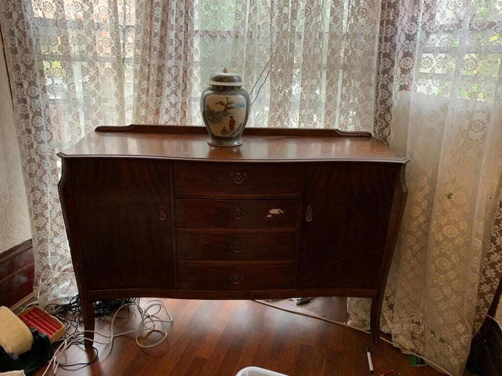 Sideboard Carbinet With Drawns And Doors Vintage Retro Style In