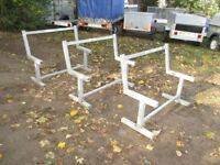 NEW / UNUSED 3 X 4FT H/D PARK / GARDEN BENCH SEAT FRAMES GALVANISED STEEL..