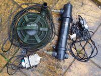 Pond pump, UVC and air pump