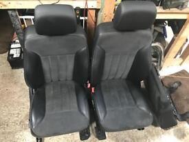 Mercedes ml w164 half black leather interior