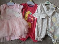 3 piece baby girl bundle upto 1 month old - All BNWT