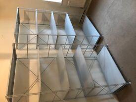 Beautiful dove grey metal shelves