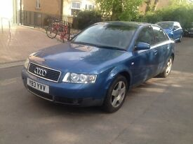 Audi A4 2001 Saloon Blue Petrol Manual