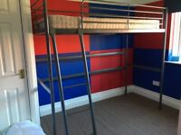 Ikea high sleeper bed excellent condition