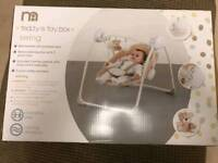 As new Mothercare Teddys Toy Box musical swing