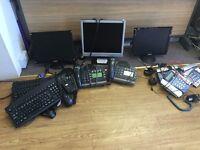 Job lot of monitors, telephone, mouses, & keyboards