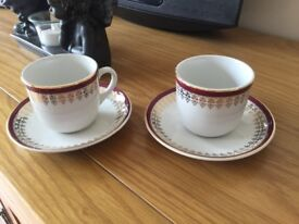 Small coffee cups/saucers