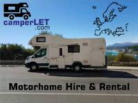 Luxury 6 Berth Motorhome for Hire late Availability Swansea West Wales