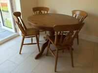Pine Dining Table + 4 Chairs £150