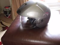 new with tags lazer open face crash helmet size xs