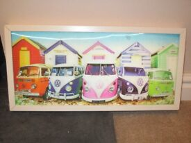 Lenticular camper van picutre with white frame - very eye catching and vibrant