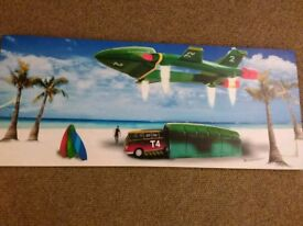 LARGE CANVAS PICTURE THUNDERBIRDS surfing VW camper