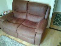 2 seat brown leather sofa