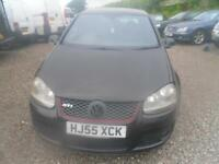 VOLKSWAGEN GOLF 2.0T GTI 5dr 5 DOOR IN BLACK, BLACK WHEELS GOOD DRIVING GTI UNMOLESTED (black) 2005