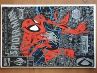 Stan Lee signed Spider-Man comic book with photo of signing