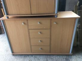 3 Small Cupboards & Shelve Unit