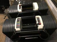 Stages 1&2 Powerblock Sport 9 adjustable Dumbells - 2.5kg to 41kg per dumbell