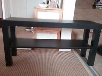 Black Ikea tv stand, used but in good condition