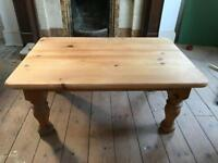 Solid pine farmhouse style coffee table