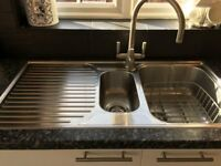 Stainless Steel Kitchen Sink and Taps.