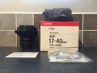 Canon 17-40 L series lens