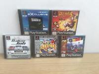 5x PlayStation one games all complete