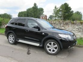 Hyundai Santa Fe CRTD Limited Edition 2008 4X4 Black Low Mileage MOT