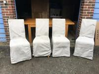 Set of 4 Brand New Loose cover dining chairs