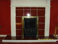 Fan assisted electric fire & surround