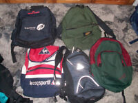 Job Lot of 5 Backpacks a bargain at £4 the lot or £1 each