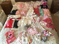 Baby girl clothes bundle 0-3 months 50+ items