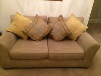 'Next' natural coloured two/three seater sofa