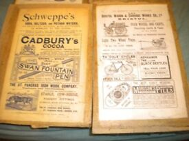 2 c1900s POSTERS 9X7 INCH