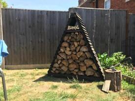 Ash black wigwam log store