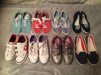 Size 1 girls bundle of pumps and trainers