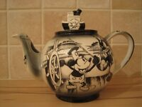 Limited Edition Rare Steamboat Willie Teapot