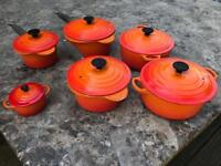 Le Creuset saucepan and casserole dish set
