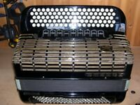 Hohner Atlanta 145, 4 Voice, Musette Tuned, 120 Bass, 5 Row, C System, Chromatic Accordion.