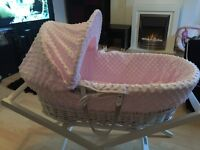 BABY ITEMS EXCELLENT CONDITION, MOSES BASKET & STAND, SWING & PLAY MAT