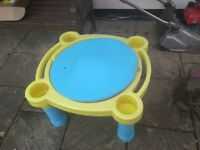 Sandpit water play table on legs