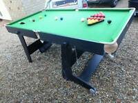 Riley folding 6' Snooker and pool table