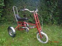 Vintage Retro 1978 Chopper bike bicycle trike lovey original condition