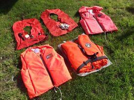 Lifejackets & Buoyancy Aids x5.