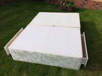 Double divan base (2 drawers) - no mattress