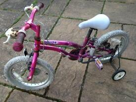 Girls Bike With Stabilisers