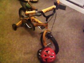 Boys 14inch dinosaur bike