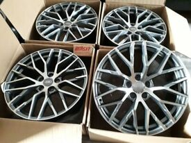 "HT418* NEW 20"" INCH ALLOY WHEELS ALLOYS AUDI R8 STYLE A5 A6 A8 S5 A7 TT TTS TRS RS6 S6"