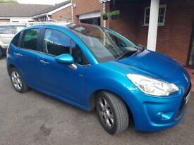 2010 Citroen C3 Exclusive (Blue) , Panoramic Roof , 12 months MOT , Diesel , £20 annual tax !