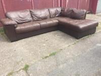 Corner sofa Italian leather